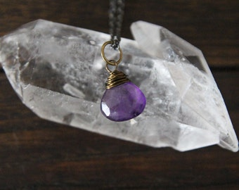 becoming {amethyst intention necklace}