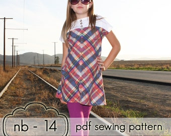 Girls Quick Dress & Top - INSTANT DOWNLOAD - nb through 14 + doll - pdf sewing pattern