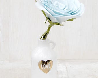 2nd Anniversary Cotton Flower Light Blue  Gift for Her Wife Girlfriend Fiancee Second Wedding Anniversary Made to Order