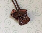 """Copper Dog Pendant """"..."""