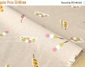 Japanese Fabric - dango canvas - natural, pink, green - fat quarter