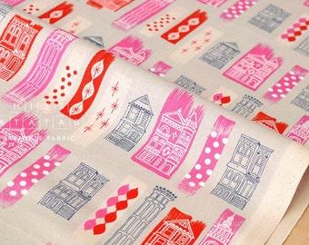 Cotton + Steel Jubilee - in the city - pink - fat quarter