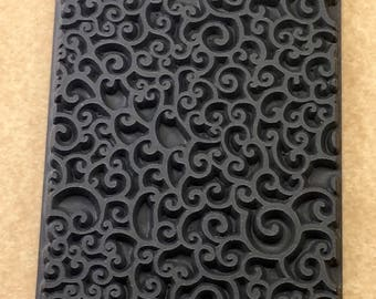SEA FOAM   Rubber Texture Stamp Mat for Clay Ink Acrylics   TTL350