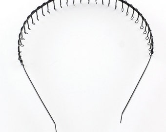 12PCs Black Headbands Hair Band 120mm-8098Z