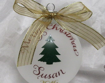 Personalized FROSTED Ornament Christmas 2016 for children/adults