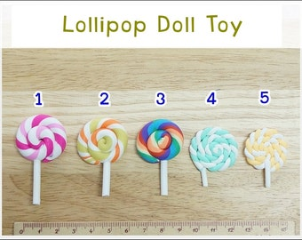 Mini Lollipop Doll Toy - 5 pcs - For Doll Decoration