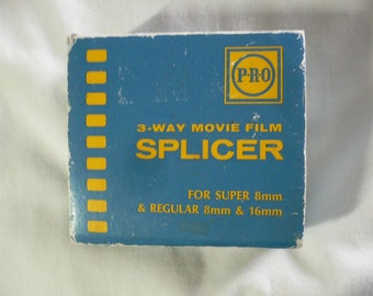Movie Film Splicer, Pro 3 way Movie Film, for Super 8mm and Regular 8mm and 16mm