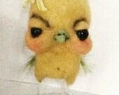 Yellow chick  ooak art doll