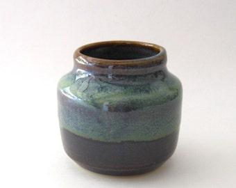 Ikebana Bottle Shape Vase with Pin Frog - Ponderosa Glaze