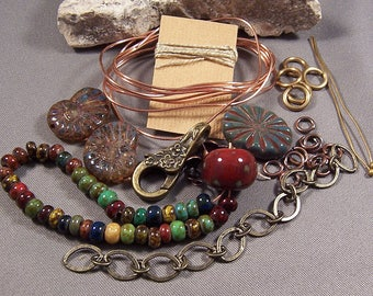 Bracelet TUTORIAL and KIT - All Materials needed to make the Bracelet in the Tutorial -Download Pdf - Beginner - Step by Step