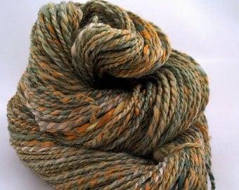 MOSS GARDEN, handspun wool and bamboo worsted weight yarn, 2.5 oz/70 g, 132 yds/121 m