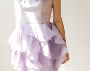 Sample Sale - One of a kind Silk Special Occasion Dress--Size0
