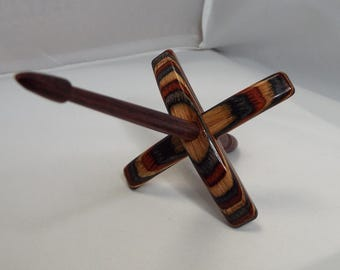 Turkish spindle, Small, Bear Country, spindle, spinning, ThreadsthruTime, Thomas-Creations