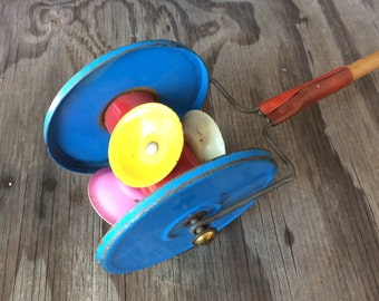 1950s Childs Toy - Push Toy MadeIn England