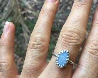 OPAL ROYAL RING // sterling silver // made to your size in byron bay // australian opal