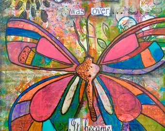 Became butterfly wings colorful