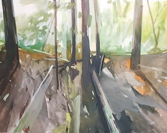 Bright Woods - limited edition print