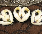 Owl Faces Trio Bead Set by Kerribeads