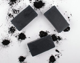 Bamboo Activated Charcoal Soap  - All Natural Soap - Tea Tree Oil  - Acne Soap - Detox Soap - Activated Charcoal