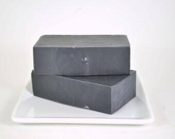 Dead Sea Mud Soap - Activated Charcoal Soap - All Natural Soap - Cold Process Soap - Essential Oil Soap - Mud Soap - Vegan Soap