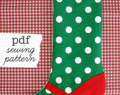 PDF Mary Jane Christmas Stocking Sewing Pattern