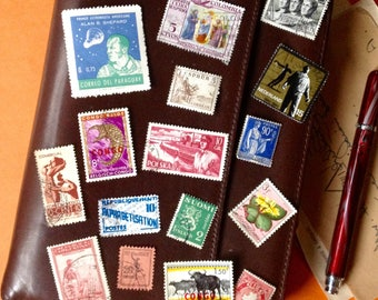 Postage Stamp Pack - Journal Planner Scrapbook Stamps - Vintage Stamps - Planner Goods - Snail Mail Ephemera