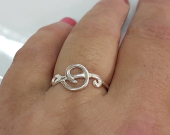 Treble clef ring, Music ring, Gift for music lover or musician, Music note ring
