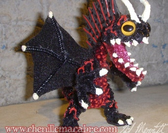 Bloodnight Dragon- Chenille Stem Miniature