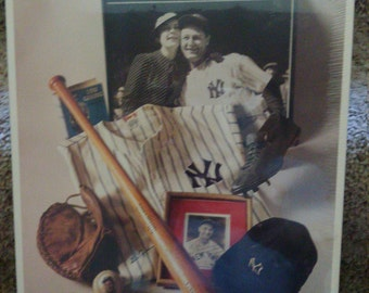 """No 6 """"The Iron Horse"""" Lou Gehrig 14""""x11"""" Certified MLB 1st Edition 1993"""