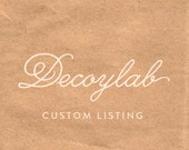 "Custom Listing: 14"" Black and gold foliage"