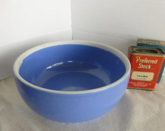 French Blue Pottery Bowl Hall China 5120