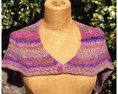 Pdf knitting pattern, cape, poncho, capelet Vivacia, victorian style cape, steampunk, shrug, wrap, cowl