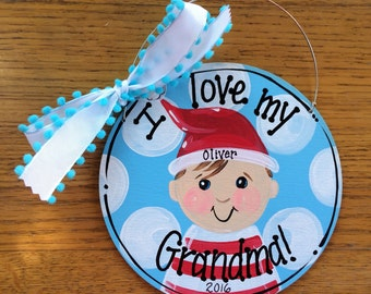 Baby face ornament - grandma ornament - elf ornament - custom ornament - baby face - personalized ornament - my first Christmas ornaments