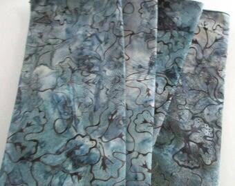 "Napkins,dinner size napkins,18""x18"" approx.,handmade napkins,batik cotton napkins,dining table decor,cotton napkins,batik fabric,steel blue"