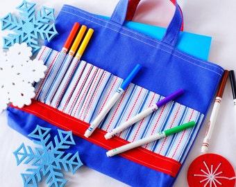 Crayon Tote • Crayon Bag • Coloring Bag • Art Tote • Crayon Holder • Crayon Roll • Ring Bearer • Busy Bag • Baseball • ARTOTE • Play Ball