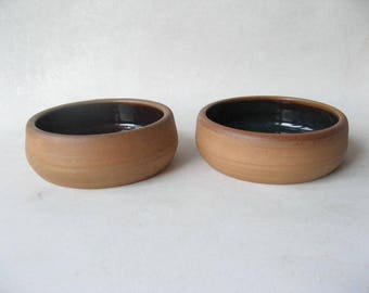 Pottery Pet Bowls, Set of Small Pet Bowls