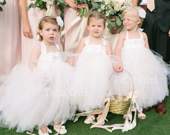 Off White Flower Girl Dress, Off White Tutu Dress, Off White Tulle Dress, Baby Dress, Toddler Dress, Flower Girl, Girls Dress, Cream Dress