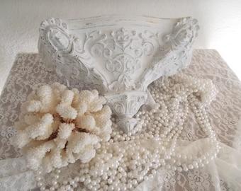 White French Style Shelf Goddeses Fleur de Lis Paris Apartment Chic 1960s French cottage