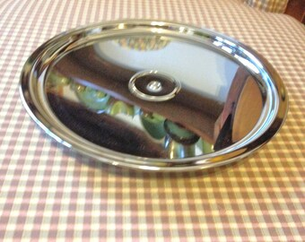 Kromex Cake Stand Vintage 50s Gleaming Silver Turning Cake Stand