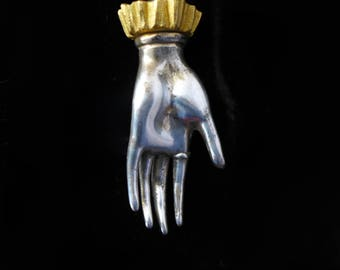 Antique Figural Ladies Hand with Cuff