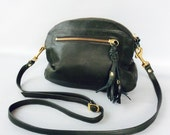 AW13 Leather bag in dark olive green