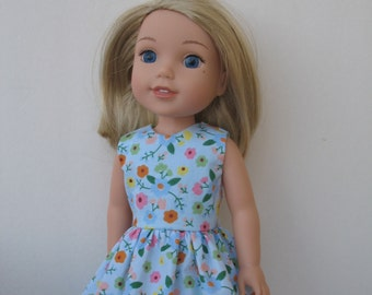 "Wellie Wishers American girl 14.5"" Doll Clothes Dress"