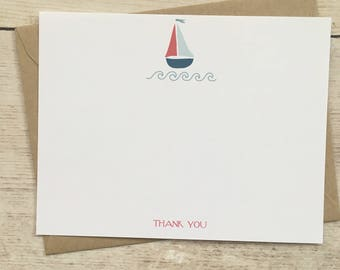 16 | baby shower thank you card toy sailboat