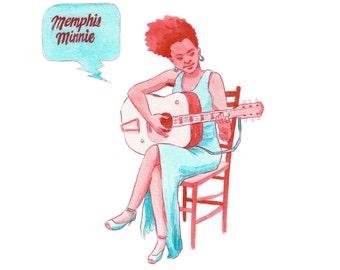 Memphis Minnie-print