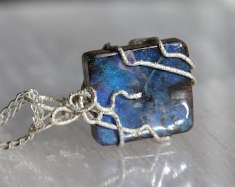 Boulder Opal Box Pendant