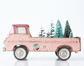 Vintage Pink Truck, Nylint Ford Toy Pickup Truck
