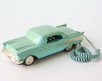 Vintage 57 Chevy Turquoise Phone