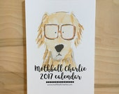 2017 Watercolor Wall Calendar - 5 x 7