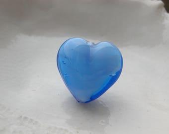 BlueVenetian Murano Heart Bead
