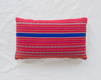 Red Mayan Textile Pillow